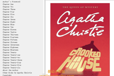 【配音频】Crooked House by Agatha Christie(mobi,epub,pdf)