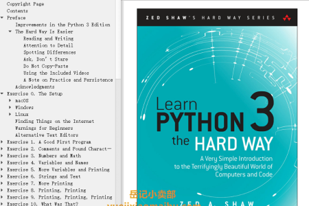 【电子书】Learn Python 3 the Hard Way: A Very Simple Introduction to the Terrifyingly Beautiful World of Computers and Code (Zed Shaw's Hard Way Series) by Zed A. Shaw(mobi,epub,pdf)