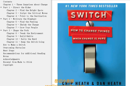 【配音频】Switch: How to Change Things When Change Is Hard by Chip Heath, Dan Heath(mobi,epub,pdf)