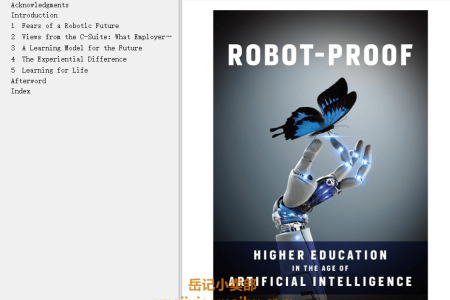 【配音频】Robot-Proof: Higher Education in the Age of Artificial Intelligence by Joseph E. Aoun(mobi,epub,pdf)