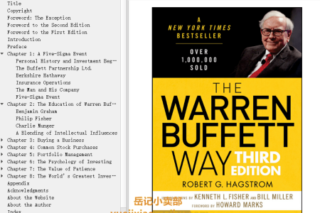 【配音频】The Warren Buffett Way 3rd Edition by Robert G. Hagstrom, Bill Miller(mobi,epub,pdf)