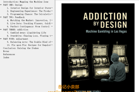 【电子书】Addiction by Design: Machine Gambling in Las Vegas by Natasha Dow Schüll(mobi,epub,pdf)
