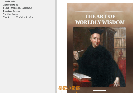 【配音频】The Art of Worldly Wisdom by Baltasar Gracián(mobi,epub,pdf)