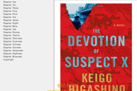 【配音频】The Devotion of Suspect X (Detective Galileo #3) by Keigo Higashino(mobi,epub,pdf)