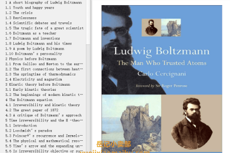 【电子书】Ludwig Boltzmann: The Man Who Trusted Atoms by Carlo Cercignani(mobi,epub,pdf)