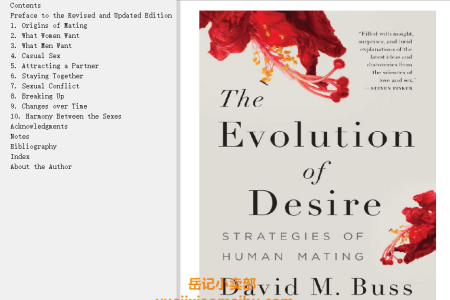 【配音频】The Evolution Of Desire: Strategies of Human Mating by David M. Buss(mobi,epub,pdf)