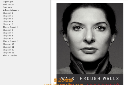 【配音频】Walk Through Walls: A Memoir by Marina Abramović(mobi,epub,pdf)