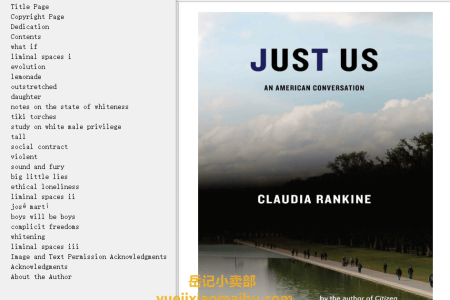 【配音频】Just Us: An American Conversation by Claudia Rankine(mobi,epub,pdf)