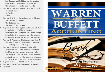 【电子书】Warren Buffett Accounting Book: Reading Financial Statements for Value Investing Buffett Book Edition by Stig Brodersen(mobi,epub,pdf)