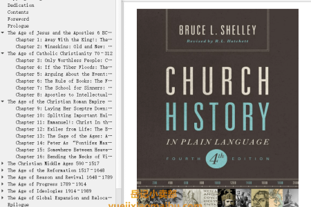 【配音频】Church History in Plain Language 4th Edition by Bruce L. Shelley(mobi,epub,pdf)