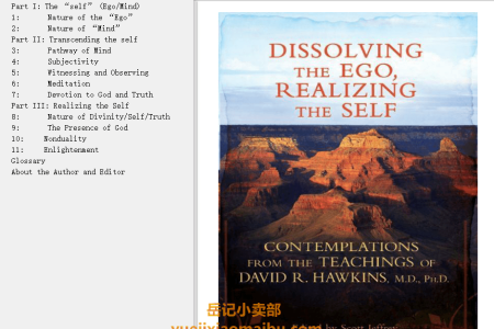 【电子书】Dissolving the Ego, Realizing the Self: Contemplations from the Teachings of David R. Hawkins, M.D., Ph.D. by David R. Hawkins(mobi,epub,pdf)
