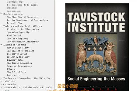 【电子书】Tavistock Institute: Social Engineering the Masses by Daniel Estulin(mobi,epub,pdf)