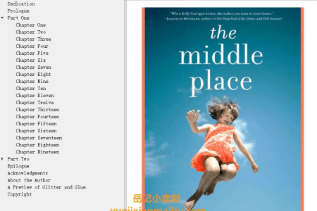 【配音频】The Middle Place by Kelly Corrigan(mobi,epub,pdf)
