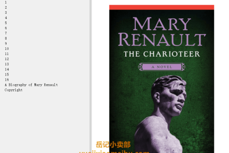 【配音频】The Charioteer by Mary Renault(mobi,epub,pdf)