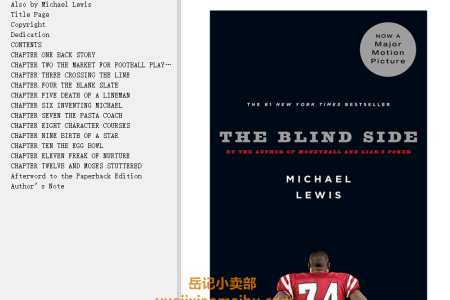 【配音频】The Blind Side: Evolution of a Game by Michael Lewis(mobi,epub,pdf)