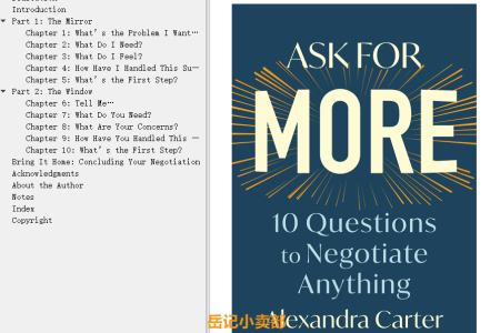 【配音频】Ask for More: 10 Questions to Negotiate Anything by Alexandra Carter(mobi,epub,pdf)