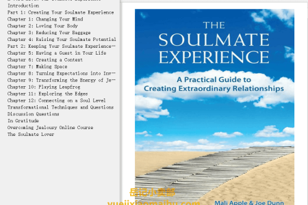 【配音频】The Soulmate Experience: A Practical Guide to Creating Extraordinary Relationships by Mali Apple , Joe Dunn(mobi,epub,pdf)