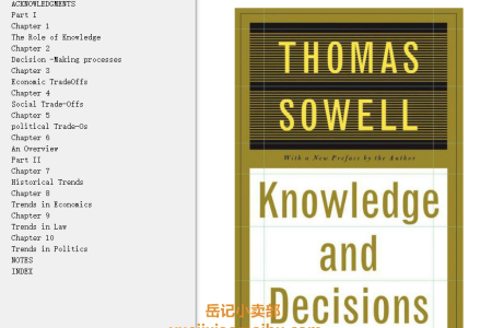 【配音频】Knowledge And Decisions by Thomas Sowell(mobi,epub,pdf)