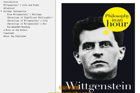 【电子书】Wittgenstein: Philosophy in an Hour by Paul Strathern(mobi,epub,pdf)