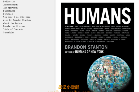 【电子书】Humans by Brandon Stanton(mobi,epub,pdf)