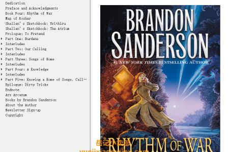 【配音频】Rhythm of War (The Stormlight Archive #4) by Brandon Sanderson(mobi,epub,pdf)