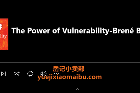 【音频】The Power of Vulnerability: Teachings of Authenticity, Connections and Courage by Brené Brown(mp3)
