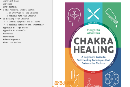 【配音频】Chakra Healing: A Beginner's Guide to Self-Healing Techniques that Balance the Chakras by Margarita Alcantara(mobi,epub,pdf)