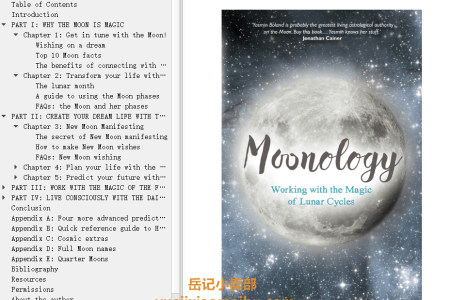 【配音频】Moonology: Working with the Magic of Lunar Cycles by Yasmin Boland(mobi,epub,pdf)