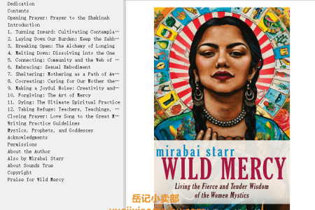 【配音频】Wild Mercy: Living the Fierce and Tender Wisdom of the Women Mystics by Mirabai Starr(mobi,epub,pdf)