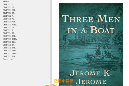 【配音频】Three Men in a Boat (Three Men #1) by Jerome K. Jerome(mobi,epub,pdf)
