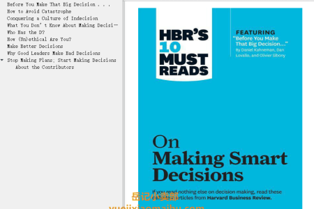 【配音频】HBR's 10 Must Reads on Making Smart Decisions by Harvard Business Review(mobi,epub,pdf)