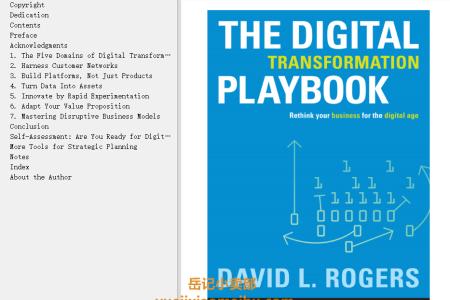 【配音频】The Digital Transformation Playbook: Rethink Your Business for the Digital Age by David L Rogers(mobi,epub,pdf)