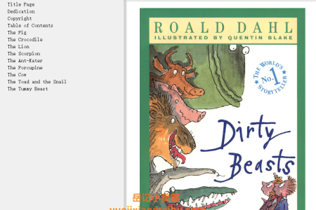 【配音频】Dirty Beasts by Roald Dahl(mobi,epub,pdf)