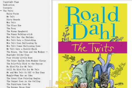 【配音频】The Twits by Roald Dahl(mobi,epub,pdf)