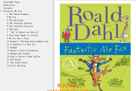 【配音频】Fantastic Mr. Fox by Roald Dahl(mobi,epub,pdf)