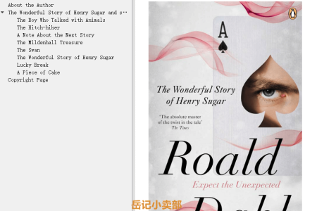 【配音频】The Wonderful Story of Henry Sugar and Six More by Roald Dahl(mobi,epub,pdf)