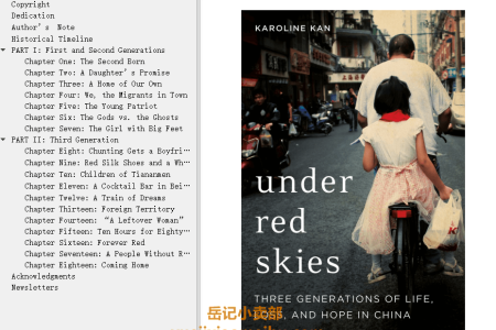 【配音频】Under Red Skies: Three Generations of Life, Loss, and Hope in China by Karoline Kan(mobi,epub,pdf)