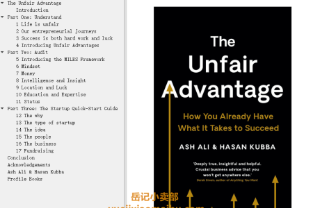 【配音频】The Unfair Advantage: How You Already Have What It Takes to Succeed by Ash Ali, Hasan Kubba(mobi,epub,pdf)