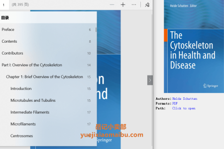 【电子书】The Cytoskeleton in Health and Disease by Heide Schatten(pdf)