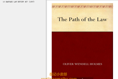 【电子书】The Path of the Law (Little Books of Wisdom) by Oliver Wendell Holmes Jr.(mobi,epub,pdf)