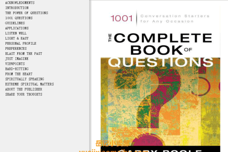 【电子书】The Complete Book of Questions: 1001 Conversation Starters for Any Occasion by Garry Poole(mobi,epub,pdf)