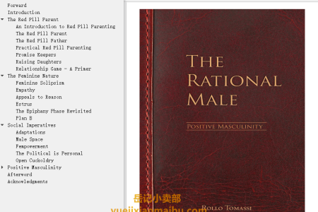 【配音频】The Rational Male - Positive Masculinity by Rollo Tomassi(mobi,epub,pdf)