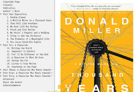 【配音频】A Million Miles in a Thousand Years: What I Learned While Editing My Life by Donald Miller(mobi,epub,pdf)