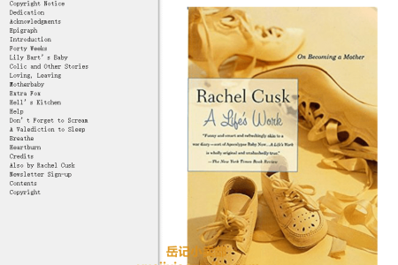 【电子书】A Life's Work: On Becoming a Mother by Rachel Cusk(mobi,epub,pdf)