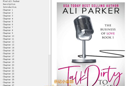 【电子书】Talk Dirty to Me (Business of Love #1) by Ali Parker(mobi,epub,pdf)