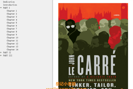 【配音频】Tinker, Tailor, Soldier, Spy (George Smiley #5) by John le Carré(mobi,epub,pdf)
