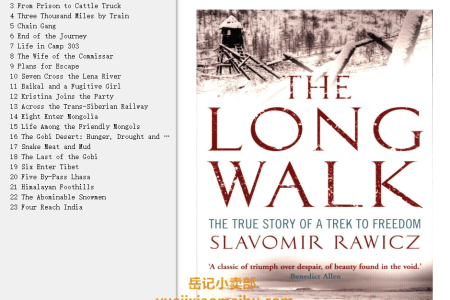 【配音频】The Long Walk: The True Story of a Trek to Freedom by Slavomir Rawicz(mobi,epub,pdf)