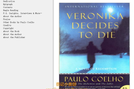 【配音频】Veronika Decides to Die (On the Seventh Day #2) by Paulo Coelho(mobi,epub,pdf)