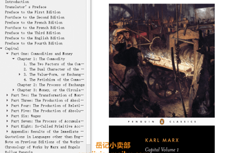 【配音频】Capital Vol 1: A Critique of Political Economy by Karl Marx(mobi,epub,pdf)