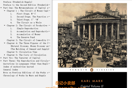 【配音频】Capital Vol 2: A Critique of Political Economy by Karl Marx(mobi,epub,pdf)